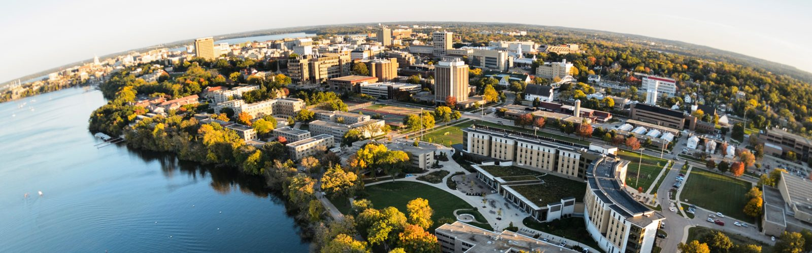 Aerial photo of UW-Madison