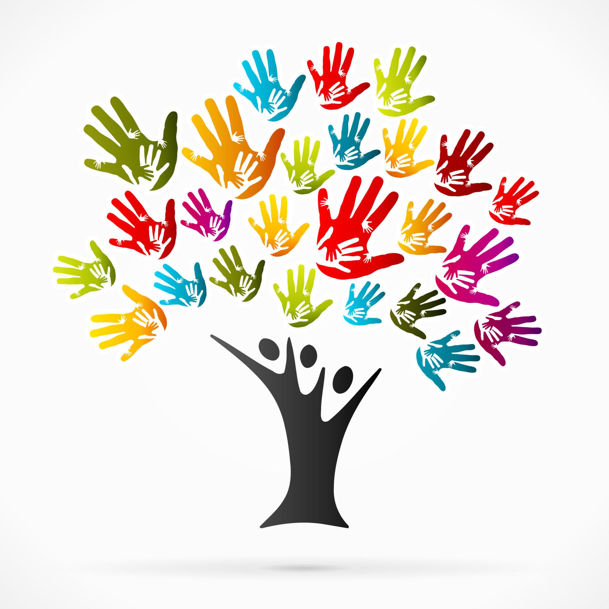 Helping tree graphic image